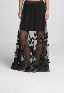Petya Embroidered Sheer Maxi Skirt - $950