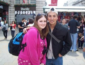 David and I in London :)